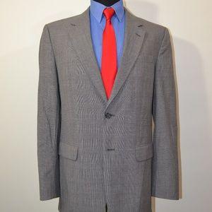 Jos A Bank 41L Sport Coat Blazer Suit Jacket Gray